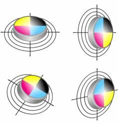 polygraphed symbols vector image
