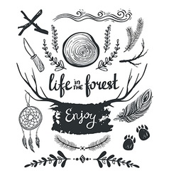 Set of design elements and clip art themed around vector image