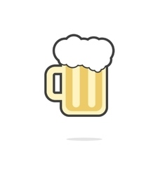 simple glass of beer icon vector image