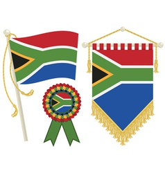 south africa flags vector image