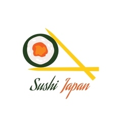 Sushi japan logo flat style design vector