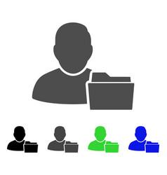 User document folder flat icon vector