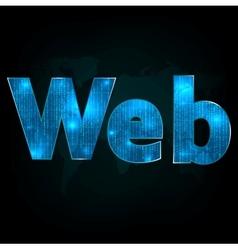 Web scribe vector image