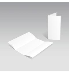 White Trifold Brochure Leaflet Zigzag Folded Flyer vector image