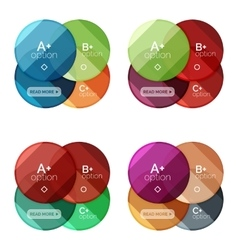 Set of round option diagram template for your data vector