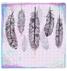Ethnic dream catcher vector