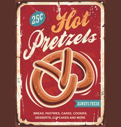 hot pretzels vector image