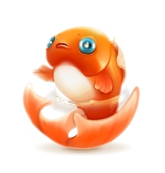Goldfish icon vector