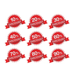 Discount percent sticker price tag vector