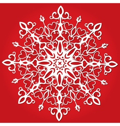 Red paper snowflakes vector