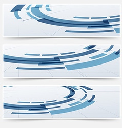 Modern circle round modeling element headers vector