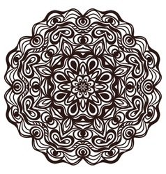 Hand drawn abstract ornamental round lace doily vector