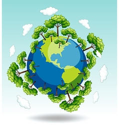 Forests around the earth vector