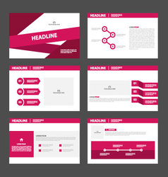 Pink purple presentation templates infographic vector