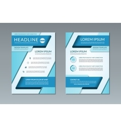 Brochure flyer template a4 size vector