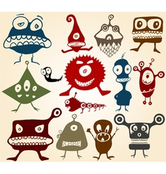 Doodle monsters vector