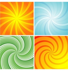Swirl retro background vector