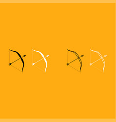 Bow and arrow it is white icon vector