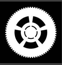 car wheel the white color icon vector image vector image