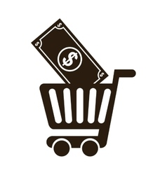 cart shopping commerce isolated icon vector image