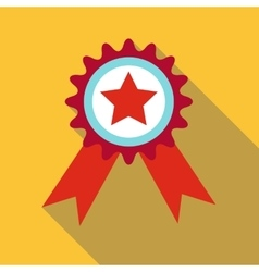 Champion medal icon flat style vector image