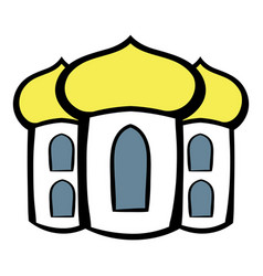Church icon cartoon vector