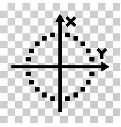 Circle plot icon vector
