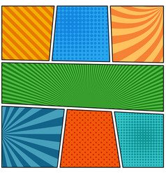comic book page blank composition vector image vector image