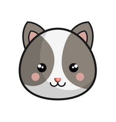 Cute chipmunk kawaii style vector