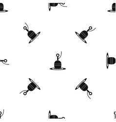 Floating bobber pattern seamless black vector