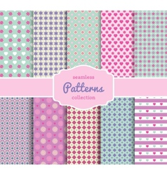 Floral Pattern Paper Collection for Scrapbooking vector image