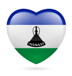 Heart icon of lesotho vector