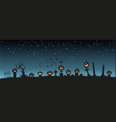 holiday halloween black silhouettes of pumpkins vector image vector image