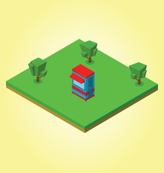 Isometric security cabin vector image vector image