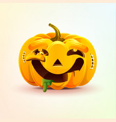 Jack-o-lantern facial expression pumpkin with vector