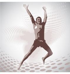 jumping man vector image vector image