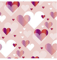 Pale rosy color love heart concept for backdrop vector
