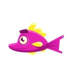 Pink Content Fantastic Aquarium Tropical Fish With vector image vector image