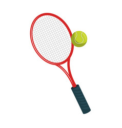 Tennis sport equipment icon vector