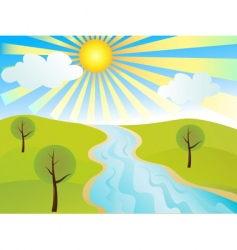tranquil landscape vector image vector image