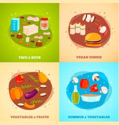 Vegetarian food flat design concept vector