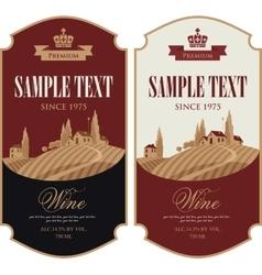 Wine labels set vector