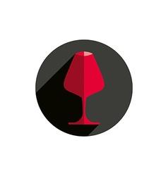 Winery theme decorative stylish wine goblet wine vector