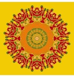 Yoga Mandala Background for greeting card vector image vector image