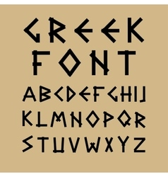 English alphabet in ancient style vector