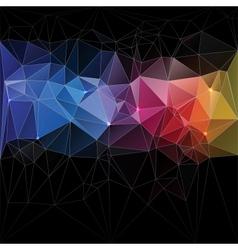 Triangle concept design Mosaic vector image