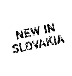 New in slovakia rubber stamp vector