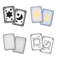 tarot cards icon in cartoon style isolated on vector image