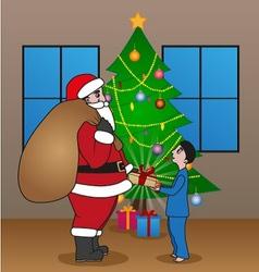 Santa surprise vector