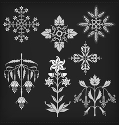 Set of decorative ornament elements vector